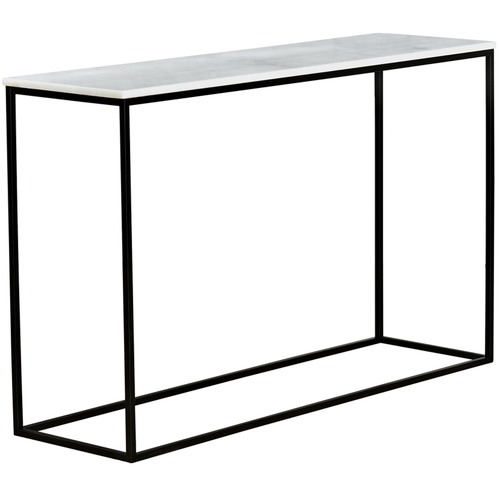Temple & Webster White Siena Marble Console Table