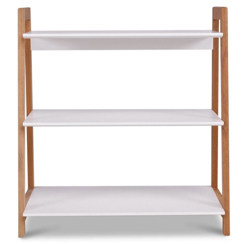 Temple & Webster White & Blonde Bjorke 3 Tier Bookshelf