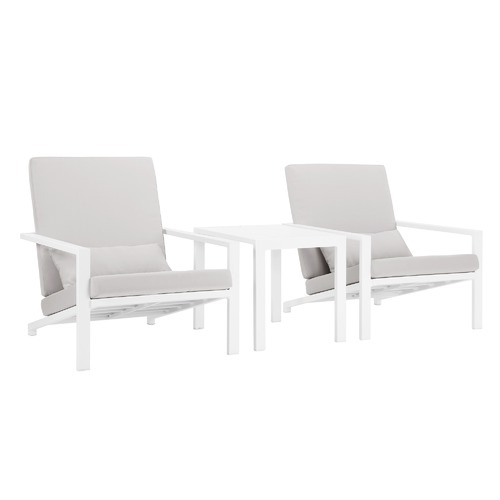 Temple & Webster Grey Felix 2 Seater Outdoor Lounge Chair & Table Set