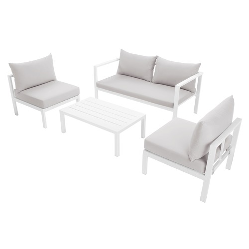 Temple & Webster Felix 4 Seater Aluminium Outdoor Sofa Set