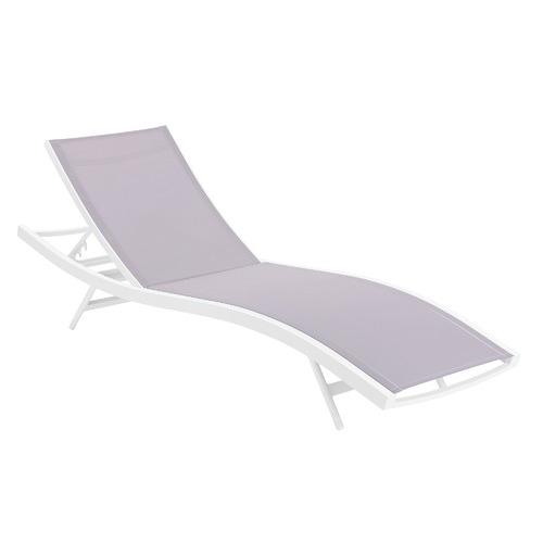 Temple & Webster Grey Tahiti Sun Lounge