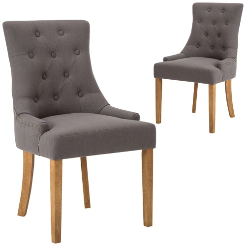 Temple & Webster Grey Windsor Scoop Back Dining Chairs
