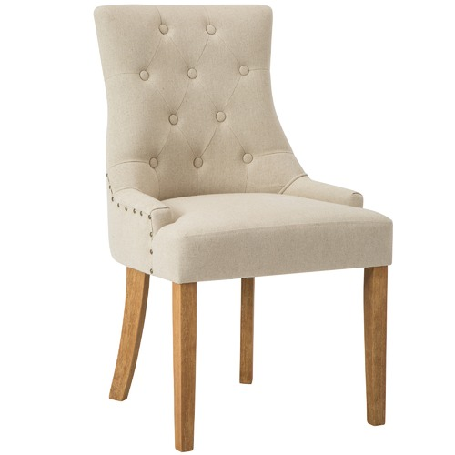 Temple & Webster Beige Windsor Scoop Back Dining Chair