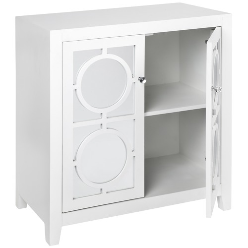 Temple & Webster White Catalina Luxe Cabinet with Mirror