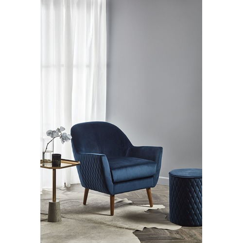 Temple & Webster Olivia Velvet Quilted Armchair