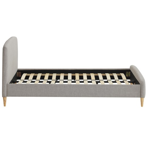 Grey Nordic Deco Upholstered Queen Bed