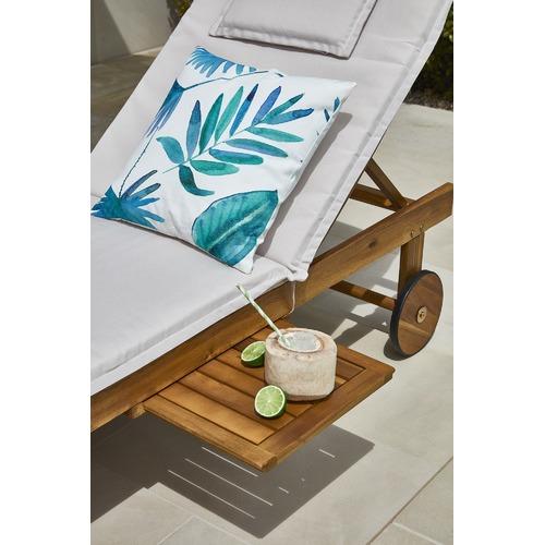 Temple & Webster Monaco Wheeled Outdoor Hardwood Sun Lounger