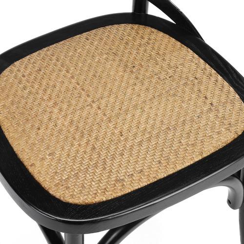 Bella Cross Back Elm Wood Dining Chairs