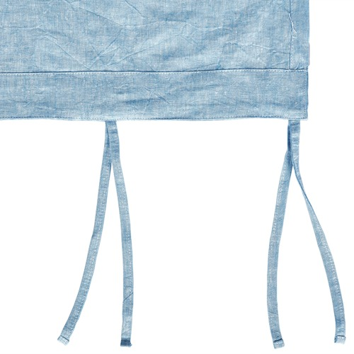Temple & Webster Blue Vintage Wash Pure Linen Curtain Set