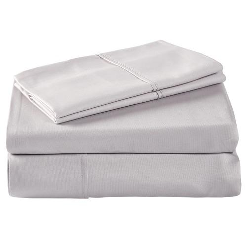 Temple & Webster Silver 1000TC Cotton Sheet Set