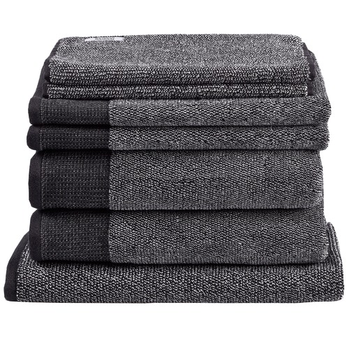 Temple & Webster 7 Piece Charcoal Marle Bathroom Towel Set