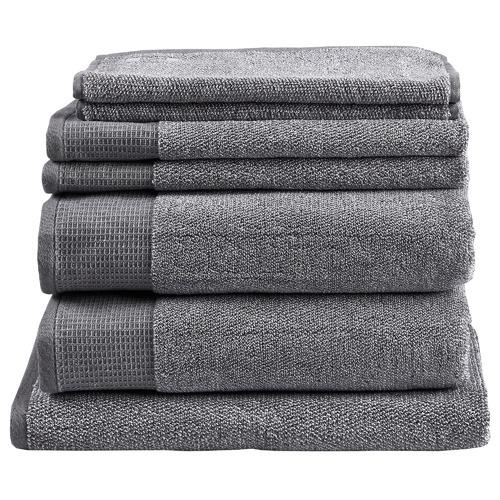 Temple & Webster 7 Piece Grey Marle Bathroom Towel Set