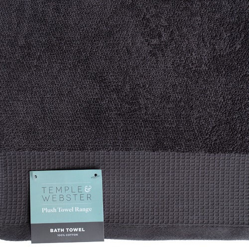 Temple & Webster 7 Piece Charcoal Bathroom Towel Set