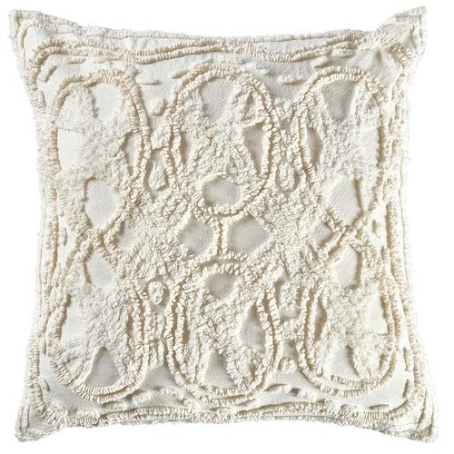 Temple & Webster Cream Delilah Cushion