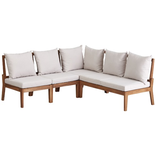 Temple & Webster Anquilla Outdoor Modular Lounge Set with Cushions