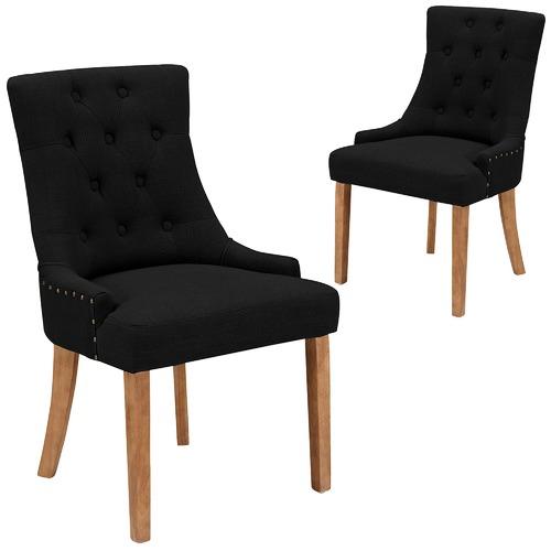 Temple & Webster Black Windsor Scoop Back Dining Chairs