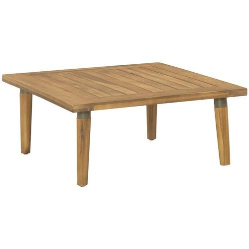 2 Seater Cuba Modular Acacia Wood Outdoor Sofa Set Temple Webster