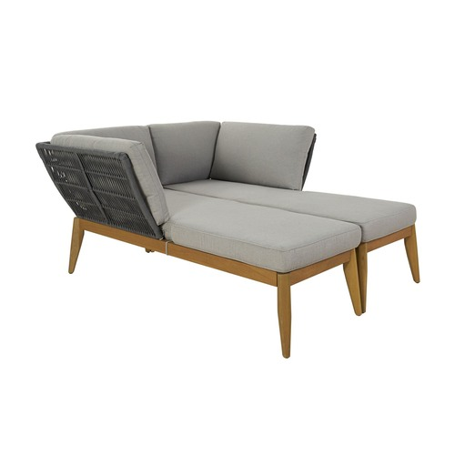 Temple & Webster 2 Seater Lorne Left & Right Outdoor Chaise Set