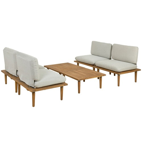 Temple & Webster 4 Seater Cuba Modular Outdoor Lounge & Table Set