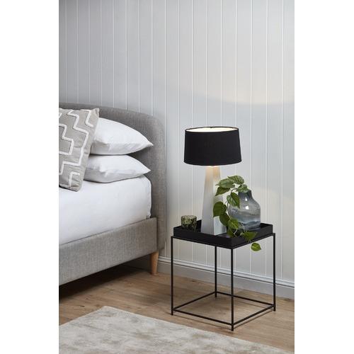 Temple & Webster Grey Nordic Deco Upholstered Queen Bed