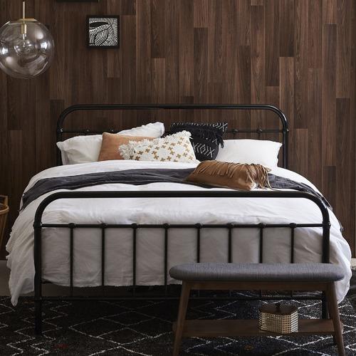 Black Bailey Metal Bed Frame