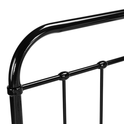 Temple & Webster Black Bailey Metal Bed Frame