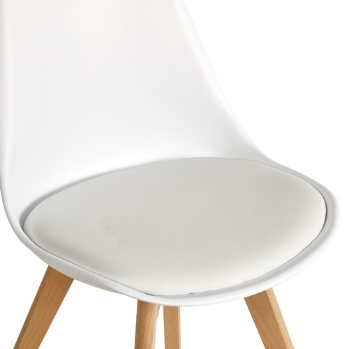 Nova Beech & Faux Leather Dining Chairs