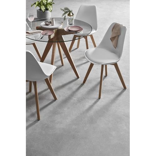 White 4 Seater Nova Dining Table Set