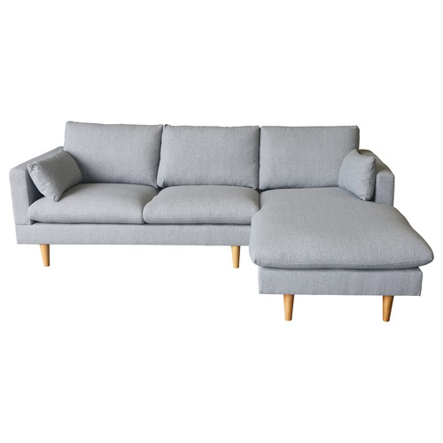 Temple & Webster Grey Silas Sofa with Chaise