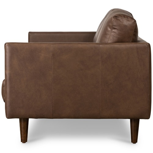 Temple & Webster Carson 3 Seater Italian Leather Sofa