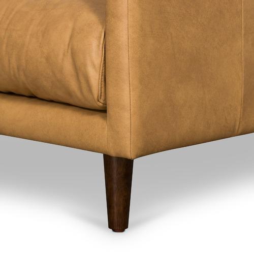 Temple & Webster Tan Carson Italian Leather Armchair