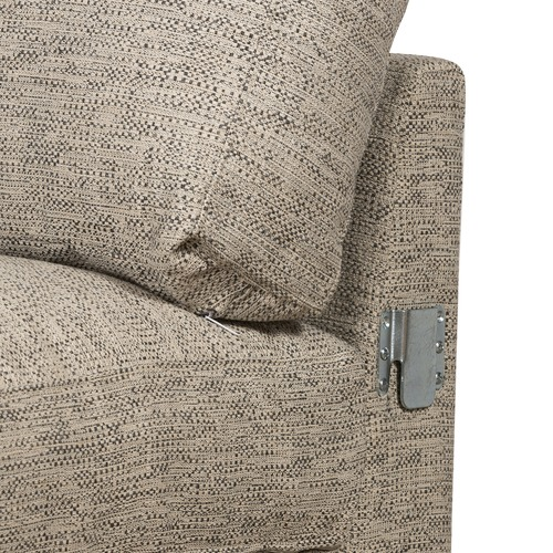 Temple & Webster Grey Carson 4 Seater Corner Sofa