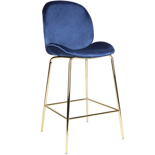 Temple & Webster Quill Velvet Barstool