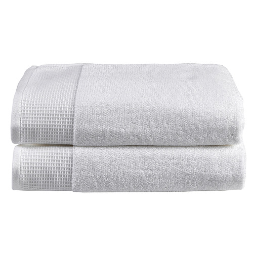 Temple & Webster 2 Piece Marle Cotton Waffle Bath Sheets