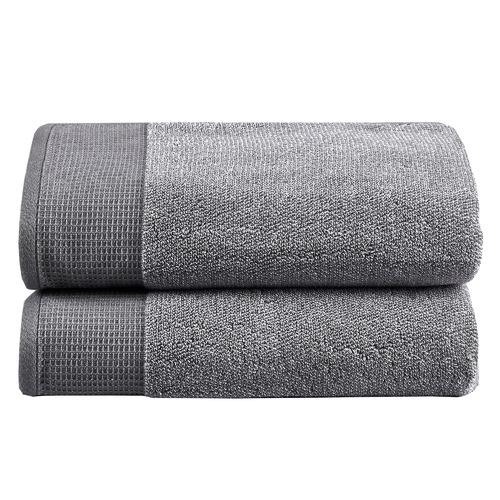Temple & Webster Grey Marle Bathroom Towel Set