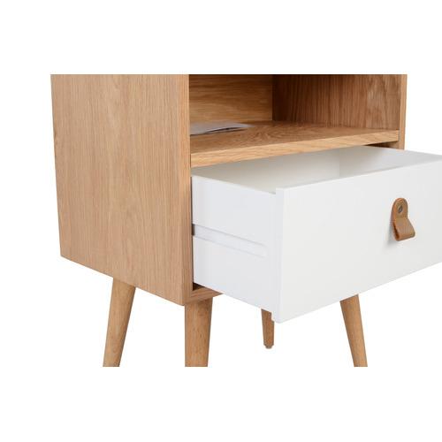 Temple & Webster White Oak Luna Bedside Table