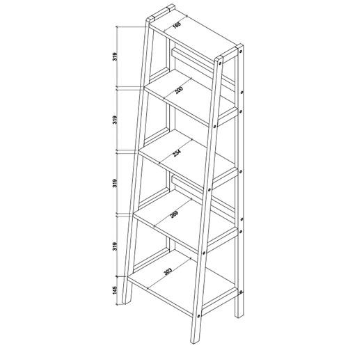 Temple & Webster Zoe 5 Tier Scandi Style Shelf