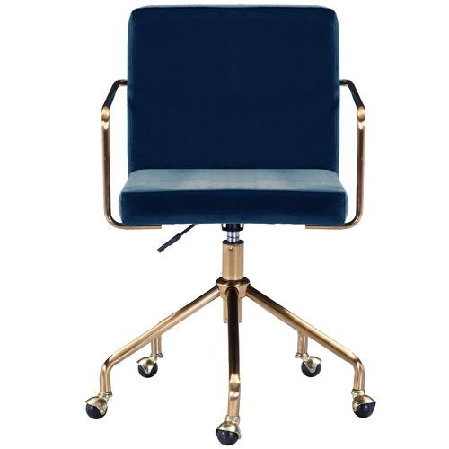 Camden Velvet Office Chair