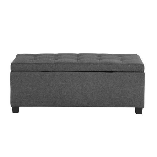 Temple & Webster Emily Upholstered Storage Ottoman