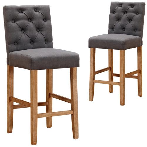 Temple & Webster 65cm Windsor Provincial Linen Barstools