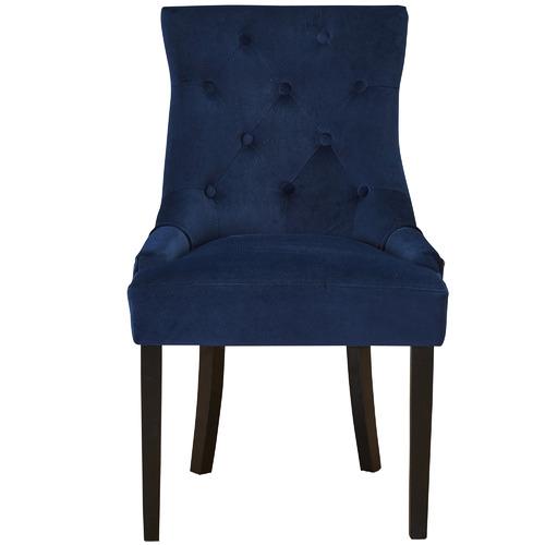 Temple & Webster Navy Windsor Velvet Dining Chairs