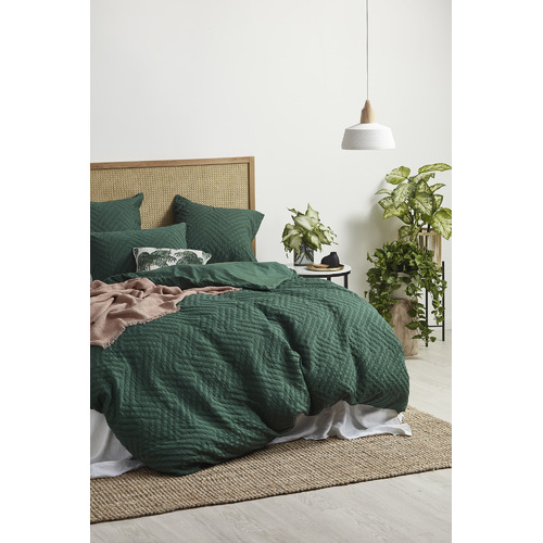 Temple & Webster Daintree Oak & Rattan Queen Bedhead