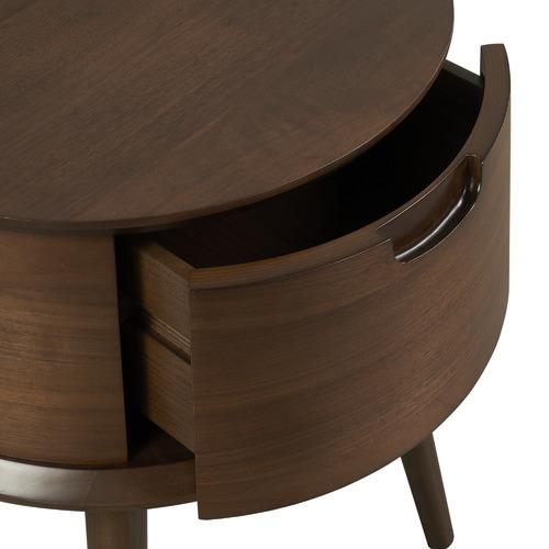 Temple & Webster Walnut Olsen Spindle Curved Bedroom Set
