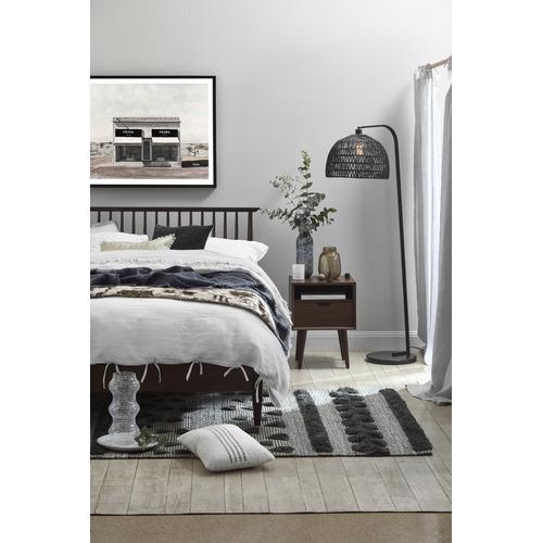 Temple & Webster Walnut Olsen Spindle Square Bedroom Set