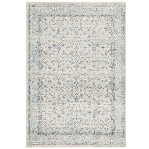Temple & Webster Blue & Cream Evanna Vintage-Style Rug