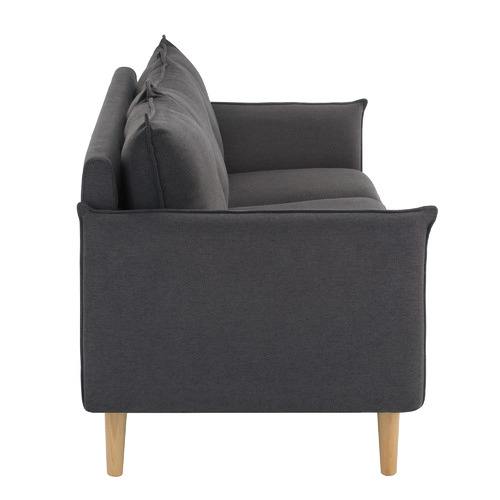 Temple & Webster Charcoal Hampstead Scandinavian-Style 3 Seater Sofa
