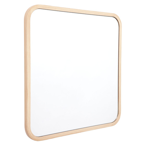 Temple & Webster Natural Noho Square Wooden Wall Mirror