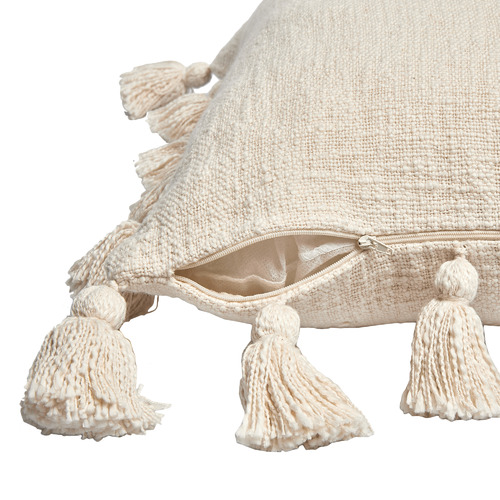 Temple & Webster Ivory Square Cotton Cushion
