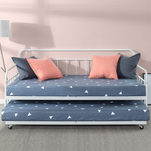Temple & Webster Florence Single Metal Daybed with Trundle