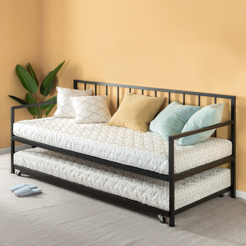 Temple & Webster Newport Single Metal Daybed with Trundle